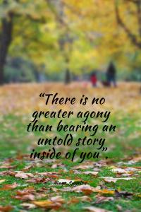 Maya Angelou Quote bearing witness